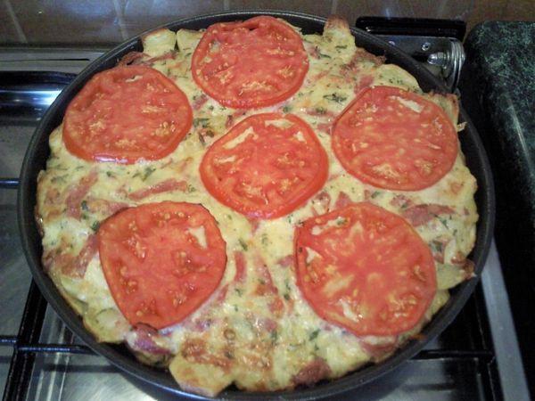 Pizza din aluat de cartofi