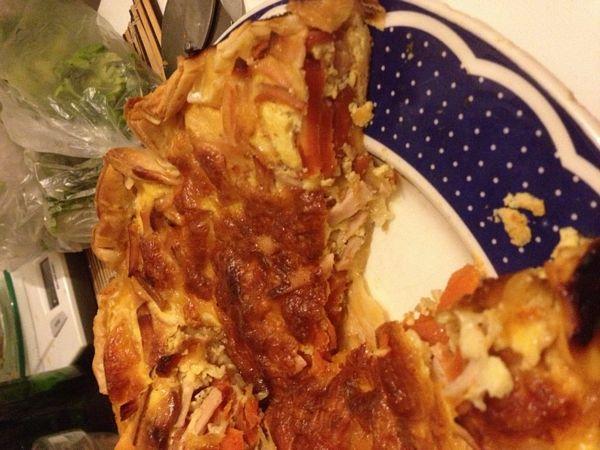 Quiche au carotte et lardons (Tarta de morcov si sunca)