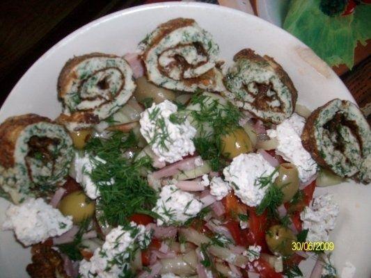 Salata cu omleta de oua