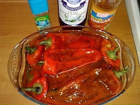 Salata de ardei capia copt