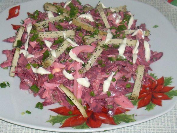 Salata de sfecla cu castraveti murati si branza Tofu