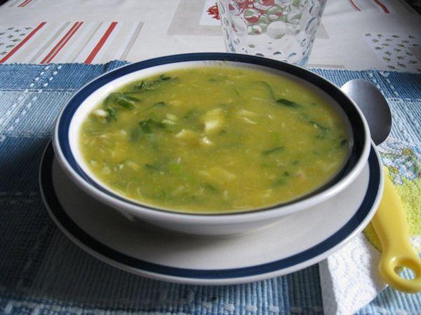 Supa crema de praz cu peste(Sopa de alho porro com peixe)