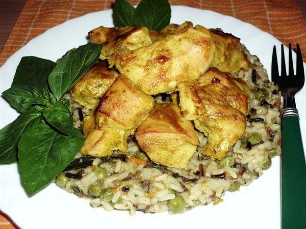 Tandori chicken si curry cu legume