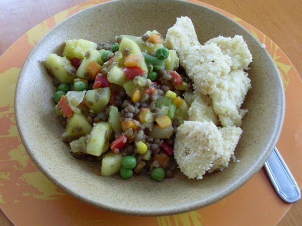Tocanita de legume cu linte