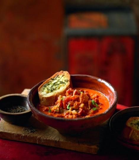 Supa De Varza, Cu Carnati Si Crutoane